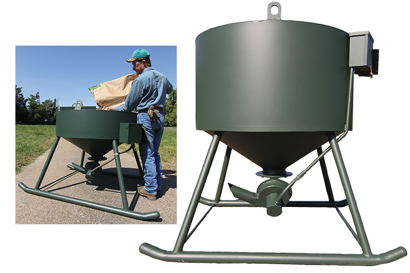 low profile corn feeder